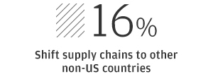 16% Shift supply chains to other non-US countries